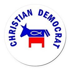 Christian Democrat Round Car Magnet