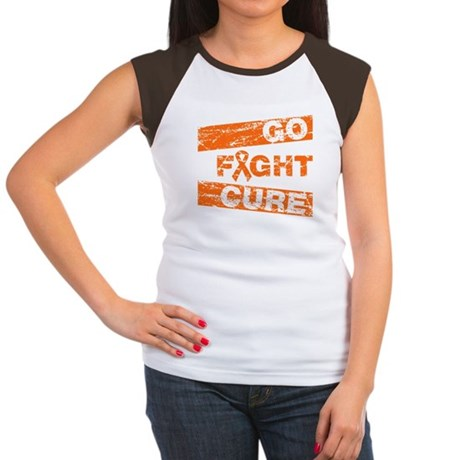 Leukemia Go Fight Cure Women's Cap Sleeve T-Shirt