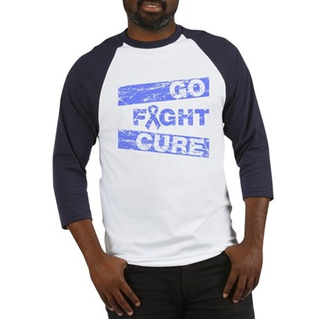 Intestinal Cancer Go Fight Cure Baseball Jersey