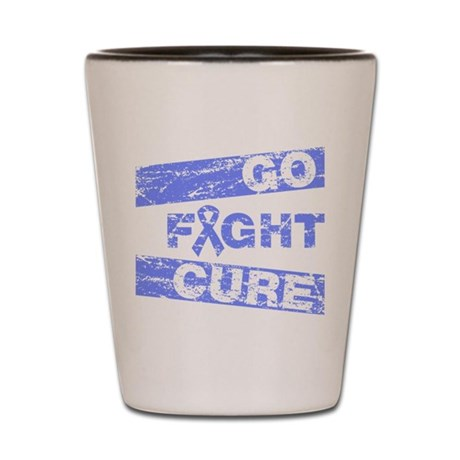Intestinal Cancer Go Fight Cure Shot Glass