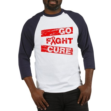 Heart Disease Go Fight Cure Baseball Jersey