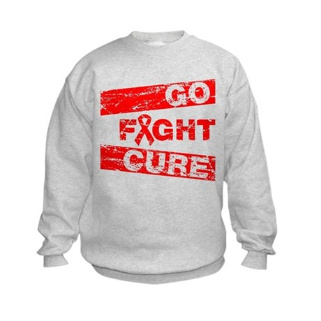 Heart Disease Go Fight Cure Kids Sweatshirt