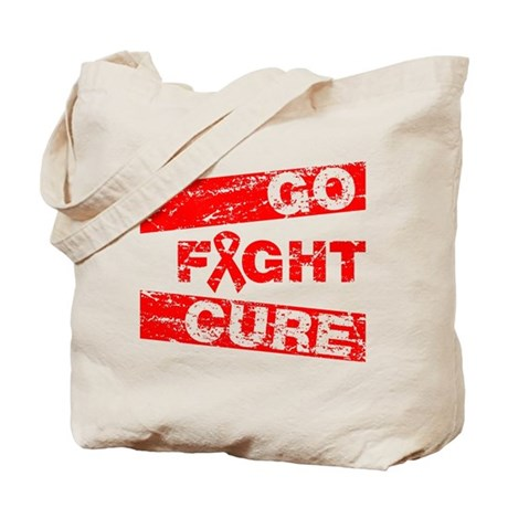 Heart Disease Go Fight Cure Tote Bag