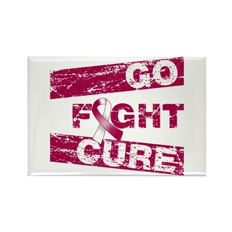 Head Neck Cancer Go Fight Cure Rectangle Magnet