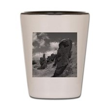 Easter Island Head with a Message Shot Glass