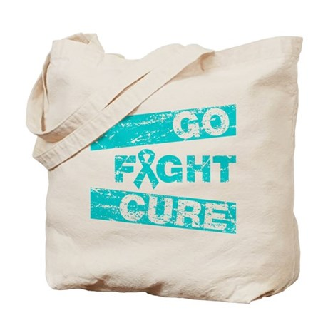 Gynecologic Cancer Go Fight Cure Tote Bag