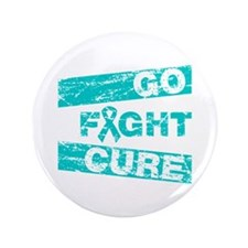"Gynecologic Cancer Go Fight Cure 3.5"" Button"