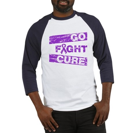 Fibromyalgia Go Fight Cure Baseball Jersey