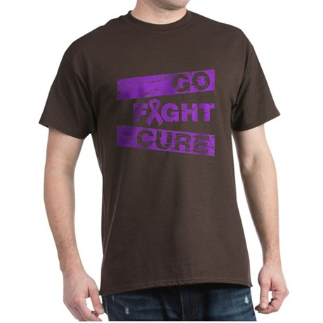 Fibromyalgia Go Fight Cure Dark T-Shirt
