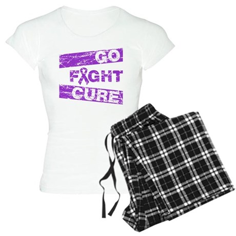 Fibromyalgia Go Fight Cure Women's Light Pajamas