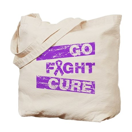 Fibromyalgia Go Fight Cure Tote Bag