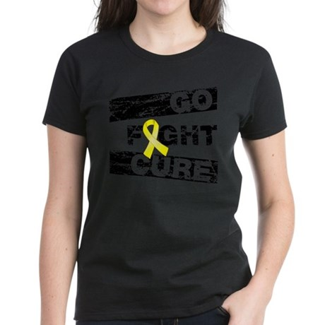 Ewings Sarcoma Go Fight Cure Women's Dark T-Shirt