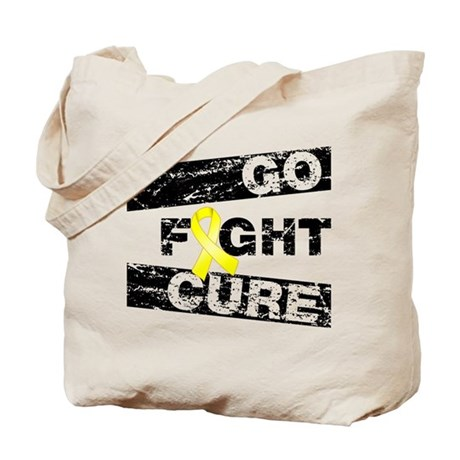 Ewings Sarcoma Go Fight Cure Tote Bag