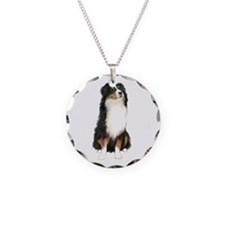 Australian Shep (tri) #2 Necklace