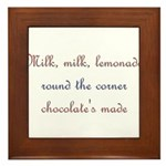Milk, Lemonade, Chocolate Framed Tile