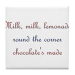 Milk, Lemonade, Chocolate Tile Coaster