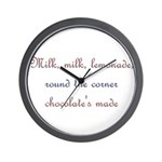 Milk, Lemonade, Chocolate Wall Clock