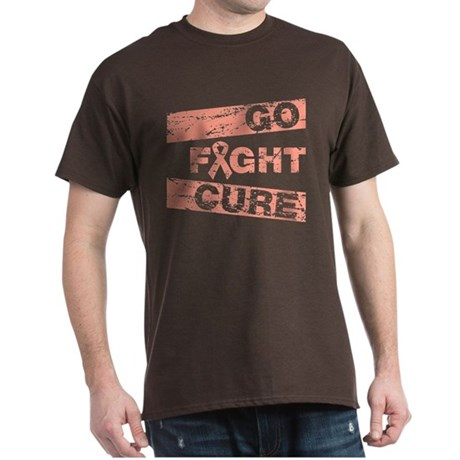 Endometrial Cancer Go Fight Cure Dark T-Shirt