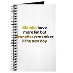 Blonde vs Brunette Journal