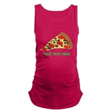 Pizza Lover Personalized Maternity Tank Top
