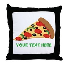 Pizza Lover Personalized Throw Pillow