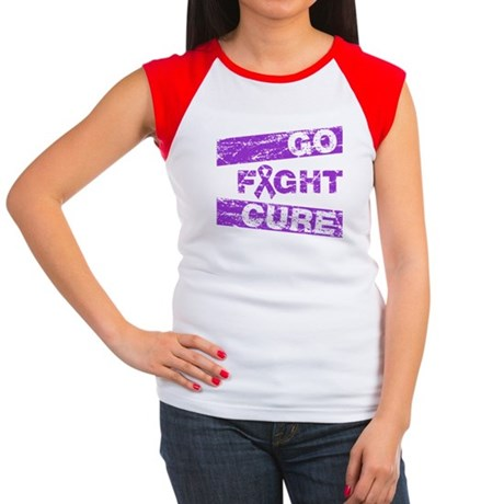 Cystic Fibrosis Go Fight Cure Women's Cap Sleeve T