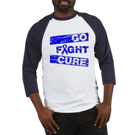 Colon Cancer Go Fight Cure Baseball Jersey