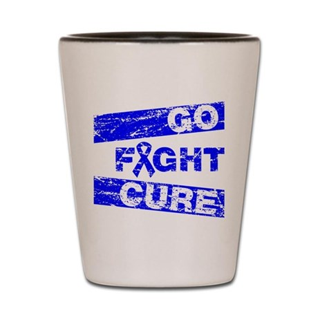 Colon Cancer Go Fight Cure Shot Glass