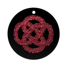 Celtic Knot - Forever Red Ornament (Round)