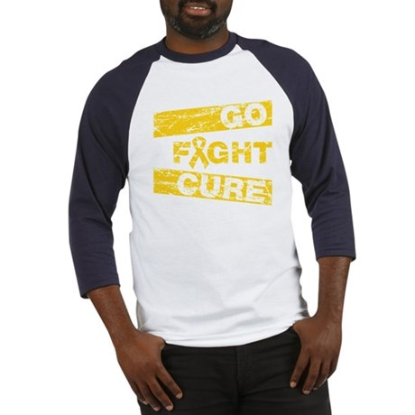 Childhood Cancer Go Fight Cure Baseball Jersey