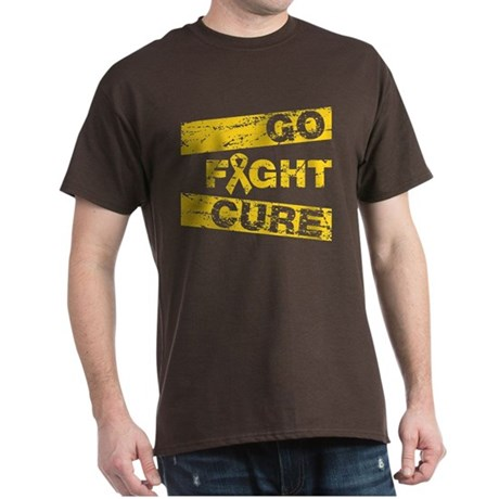 Childhood Cancer Go Fight Cure Dark T-Shirt