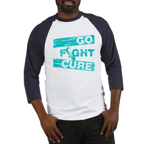 Cervical Cancer Go Fight Cure Baseball Jersey