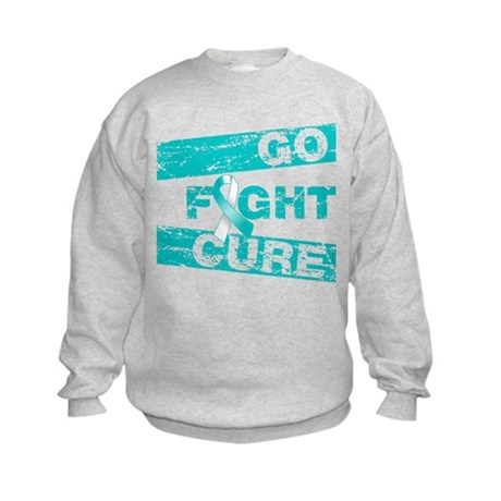 Cervical Cancer Go Fight Cure Kids Sweatshirt