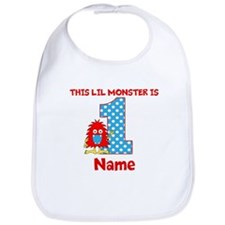1st Birthday Monster Red Bib
