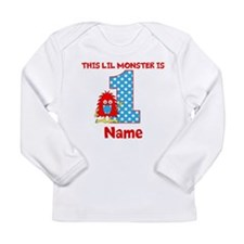 1st Birthday Monster Red Long Sleeve T-Shirt