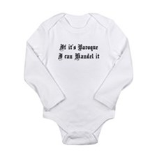 Baroque Pun Long Sleeve Infant Bodysuit