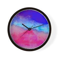 Sunset watercolor Wall Clock