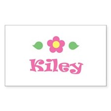 "Pink Daisy - ""Kiley"" Rectangle Decal"