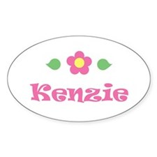 "Pink Daisy - ""Kenzie"" Oval Decal"