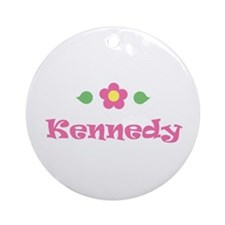 "Pink Daisy - ""Kennedy"" Ornament (Round)"