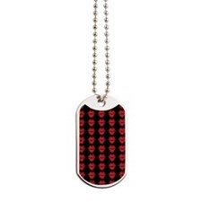 Red Lips On Black Background Dog Tags