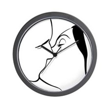 French Kiss 14 Wall Clock