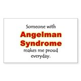 """Angelman Syndrome Pride"" Rectangle Decal"