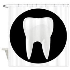 Tooth Shower Curtain