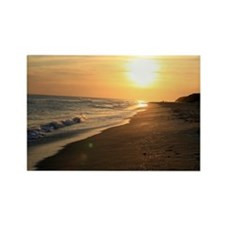Romantic Colorful Sunset over Oce Rectangle Magnet