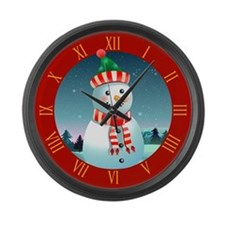 Unique Ski christmas Large Wall Clock