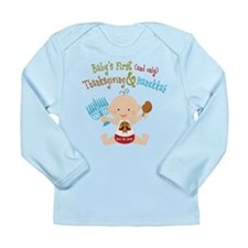1st Thanksgiving Hanukkah Long Sleeve Infant T-Shi