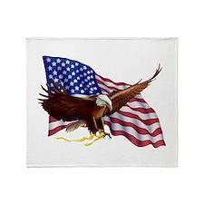 American Patriotism Throw Blanket