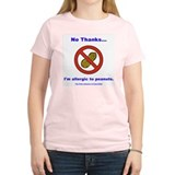"""Peanut Allergy"" Women's Pink T-Shirt"