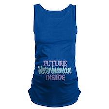 Future Veterinarian Inside Maternity Tank Top